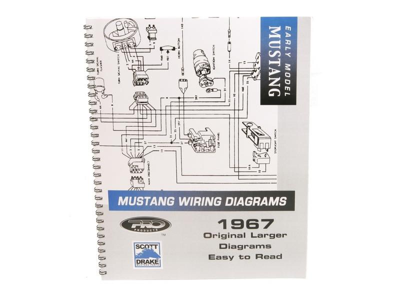 1967 Ford Mustang Technisches Handbuch - Schaltplan groß MP-3-P