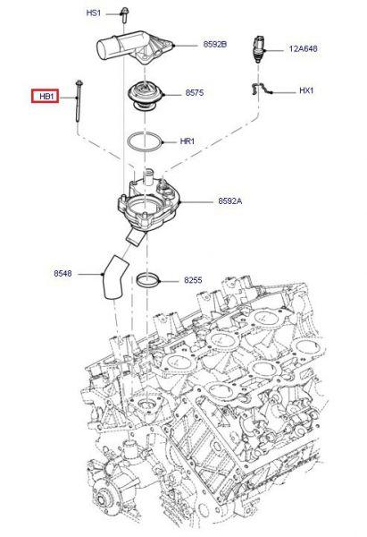 05-14 V6 Schraube für Thermostatgehäuse an Motorblock