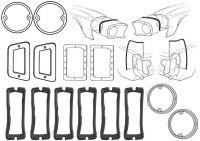 67-68 Ford Mustang Dichtungsset Karosserie - Klein