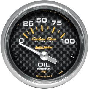 05-14 Carbon Zusatzinstrument Öldruck - 2 1/16 Zoll