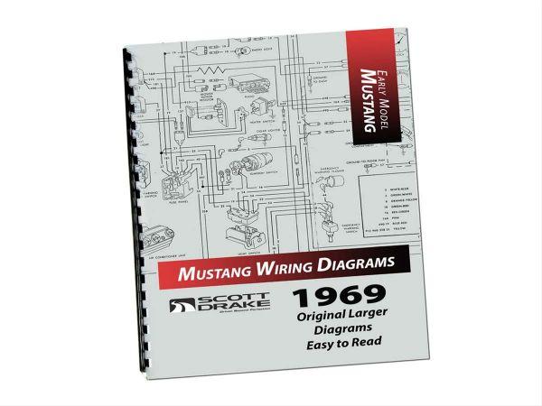 1969 Ford Mustang Technisches Handbuch - Schaltplan groß MP-5-P