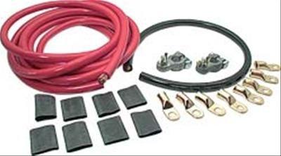 Kabelset zum Verlegen von Batterie in Kofferraum - 1 Batterie (6,3 mm)