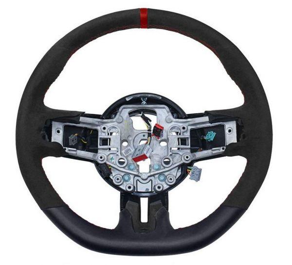 15-17 Ford Mustang Lenkrad - Leder / Alcantara - OEM GT350R - Roter Streifen