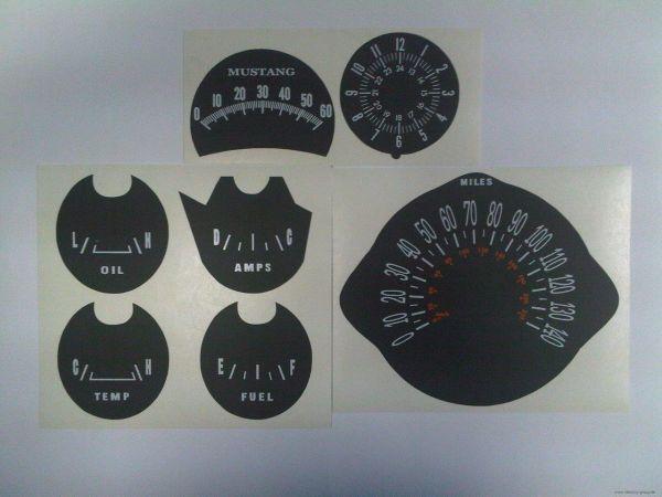 1966 Tachoscheiben mit km/h Tacho - schwarz