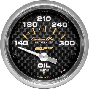 05-14 Carbon Zusatzinstrument Öltemperatur - 2 1/16 Zoll