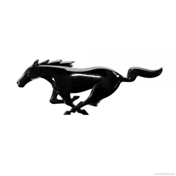 15-19 Ford Mustang Emblem Heckklappe - Running Pony - Schwarz glänzend
