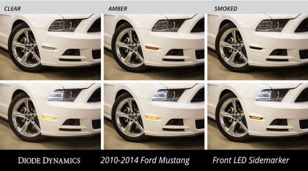 10-14 Ford Mustang Seitenmarkierungsleuchte - LED Rauchglas