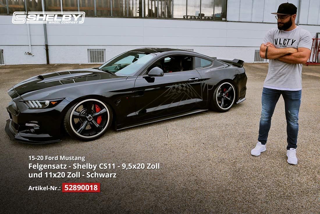 Shelby CS11 Felgen auf unserem BLACK7