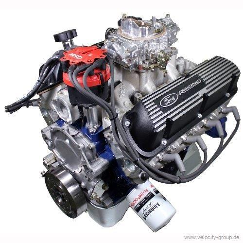 64-73 Ford Mustang  Ford Racing Komplettmotor - 347 CUI 360 PS - Ölsumpf Vorne