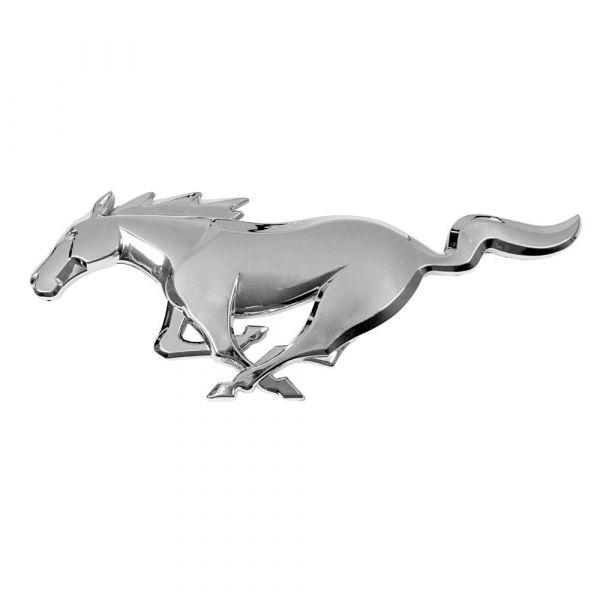 15-21 Ford Mustang Emblem Heckklappe - Running Pony - Chrom