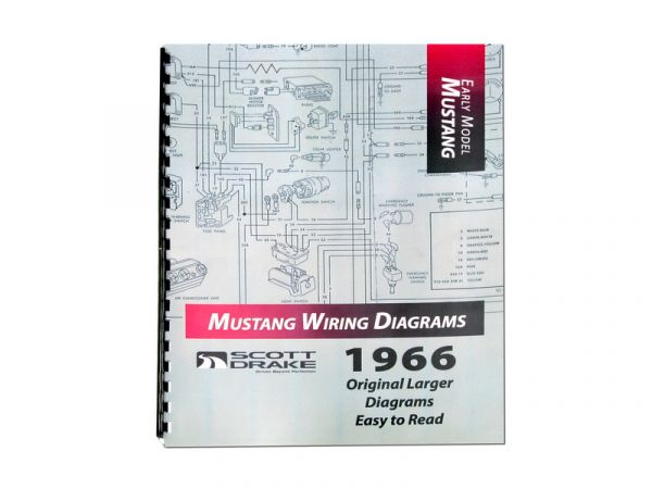 1966 Ford Mustang Technisches Handbuch - Schaltplan groß MP-2-P