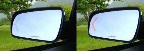 05-09 Ford Mustang Spiegelglassatz Außenspiegel