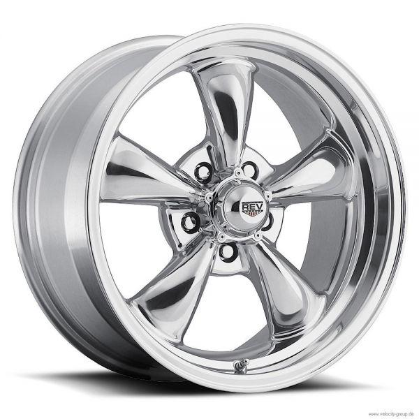64-73 Ford/Mercury  Classic Wheel 15x8 Aluminium poliert
