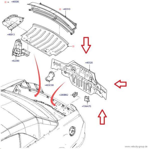 10-14 Heckblech bei Rücklichtern - Originales Ford Ersatzteil