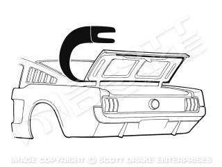 65-66 Fastback Dichtung Kofferraum