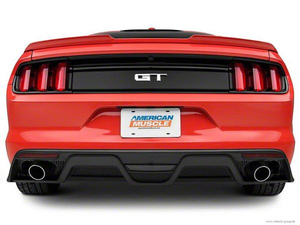 15-17 Ford Mustang Stoßstangenansatz - GT350 Style - Diffusor - 2-Rohr