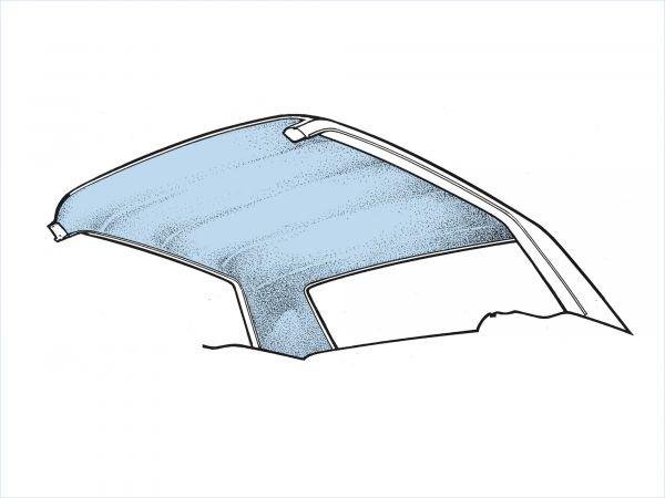 64-68 Ford Mustang Fastback Dachhimmel - Light Blue