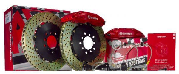 05-14 Brembo 4 Kolben Bremsanlage VA zweiteilig - gelocht