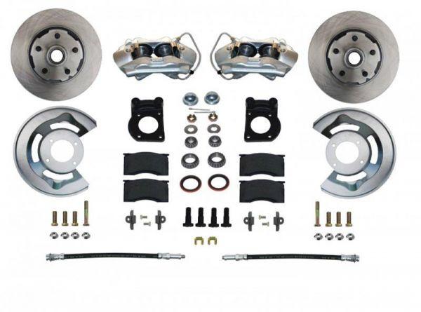 64-69 Ford Mustang Umrüstsatz Bremsanlage - Vorne - Glatt - Ohne HBZ und ohne BKV