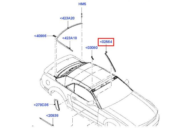 07-14 Cabrio Dichtung für A-Säule links