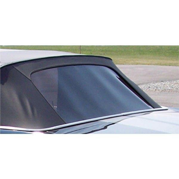 67-68 Cabrio Kunststoff Heckscheibe Stayfast Canvas Black