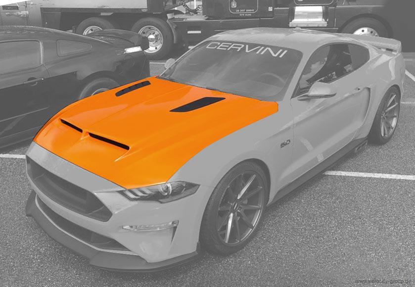 18-20 Ford Mustang Motorhaube - Cervinis - Ram Air - mit Luftauslass