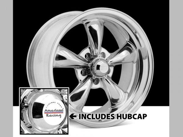 64-73 Ford Mustang  Classic Wheel 17x8 Aluminium poliert