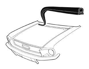 67-68 Ford Mustang Dichtung Windleitblech