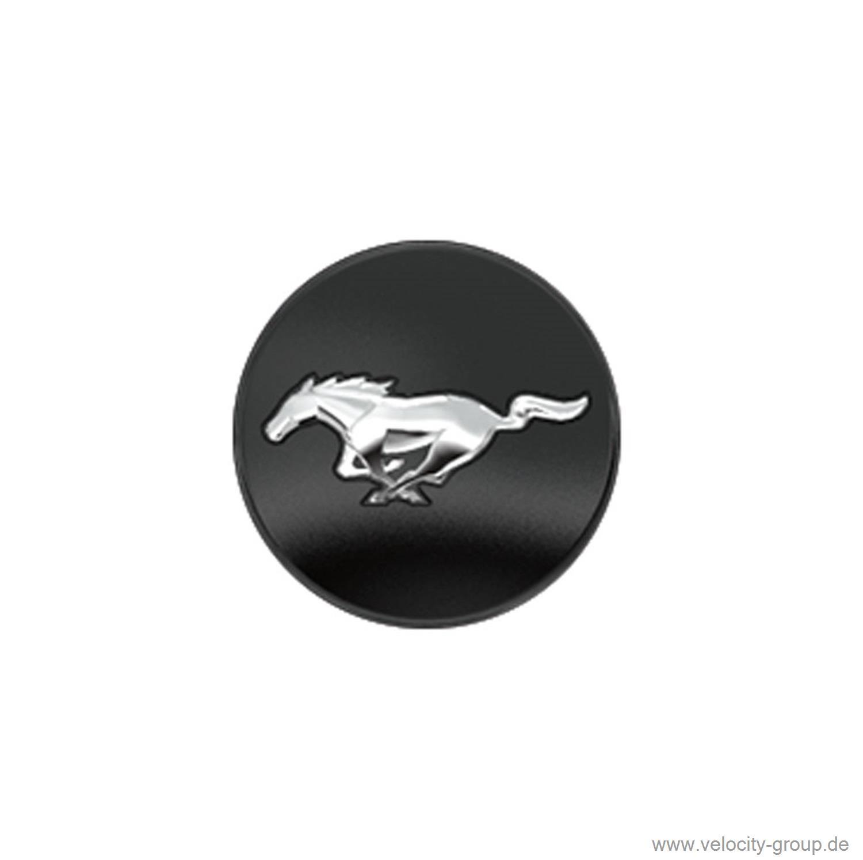 15 17 ford mustang nabenkappe schwarz running pony. Black Bedroom Furniture Sets. Home Design Ideas