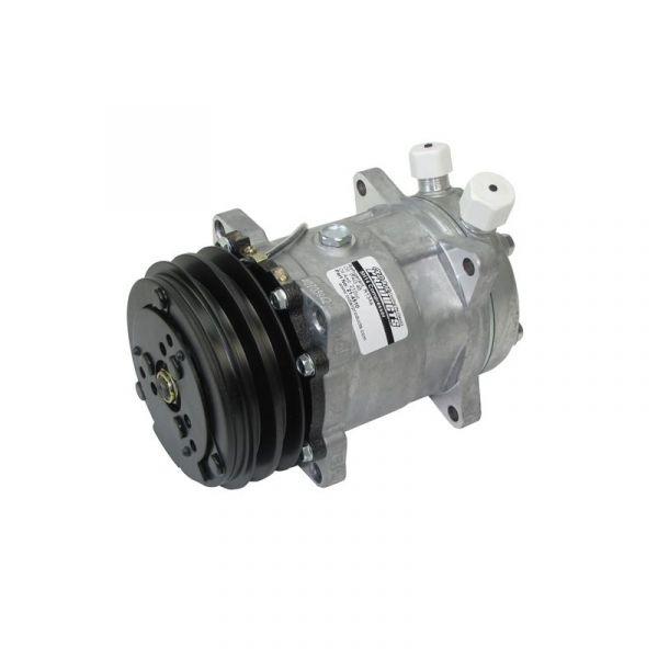 Klimakompressor - Sanden 508 - R134a - Keilriemen - Anschlüsse oben