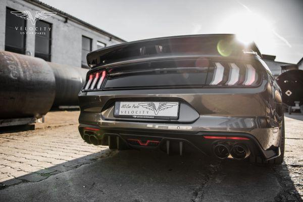 18-21 Ford Mustang Stoßstangenansatz - Sport Diffusor - groß - 4-Rohr