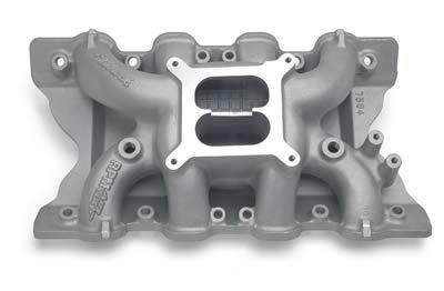 69-73 Ford Mustang (351) Ansaugkrümmer - Edelbrock RPM Air-Gap - Aluminium - Unbehandelt