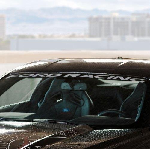 15-19 Ford Mustang Aufkleber Windschutzscheibe - Ford Racing
