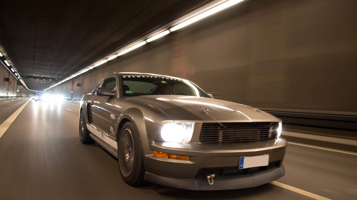 vlcty ford mustang fahraufnahme
