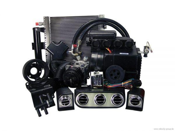 65-66 Ford Mustang (260/289) Klimaanlagennachrüstung - mit elektronischem Steuermodul - mit Riemensc