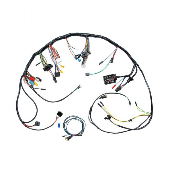 1967 ford mustang dashboard wiring harness - w/o tach c7zz-14401-std  velocity-group
