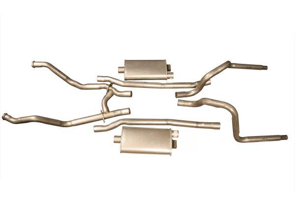 64-66 Ford Mustang (289) Abgasanlage - Stahl - 2 Zoll - K-Code - Ohne Nachschalldämpfer