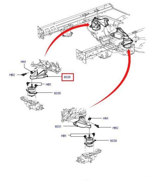 05-09 Motorhalterung für V6 - rechts