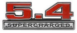 07-14 Ford Mustang  Emblem ''''5.4 Supercharged'''' - Rot
