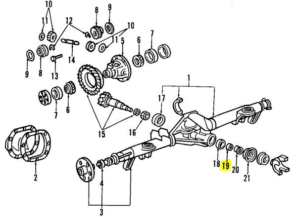 distanzring f u00fcr lager differential 7 5 u0026 39  u0026 39