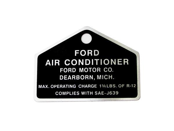 64-73 Metal Plakette für Kompressor Klimaanlage