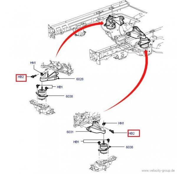 05-10 V6 Bolzen M10 für Getriebehalter (7er Set)