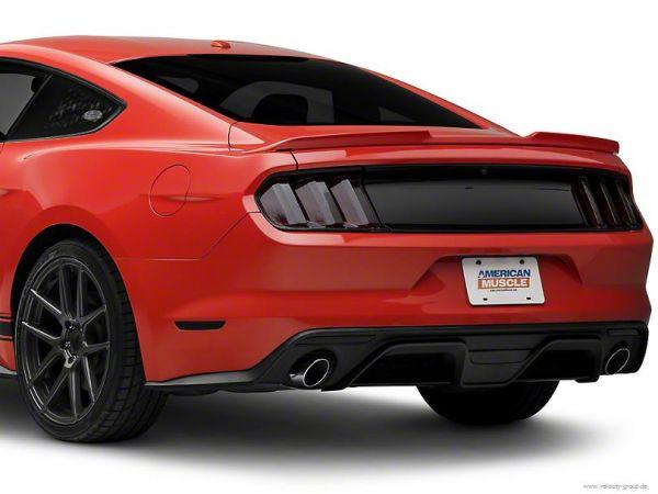 15-17 Ford Mustang Heckblende - Ohne Logo - schwarz - glänzend