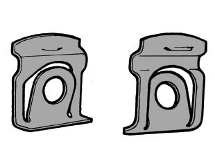 64 65 ford mustang clip f r zierleisten windschutzscheibe und heckscheibe c5zz 65423a26 a. Black Bedroom Furniture Sets. Home Design Ideas