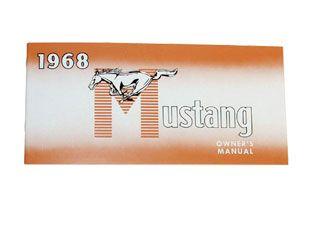1968 Ford Mustang Bedienungsanleitung