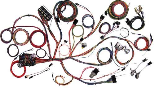 67-68 ford mustang body wiring harness - american autowire - atc fuses  velocity-group