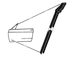 67-68 Ford Mustang Filz Fensterführung - Links und Rechts