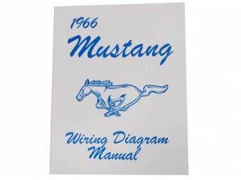 1966 Ford Mustang Technisches Handbuch - Schaltplan klein MP-2