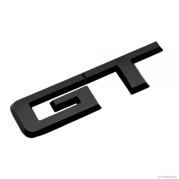 15 18 ford mustang emblem heckklappe gt schwarz matt. Black Bedroom Furniture Sets. Home Design Ideas