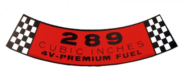 65-66 Aufkleber für Luftfilter - 289-4V